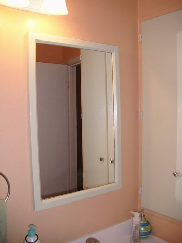 Valspar semi seasonal Peach bathroom