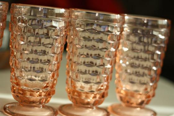 peachbeveledfootedglasses